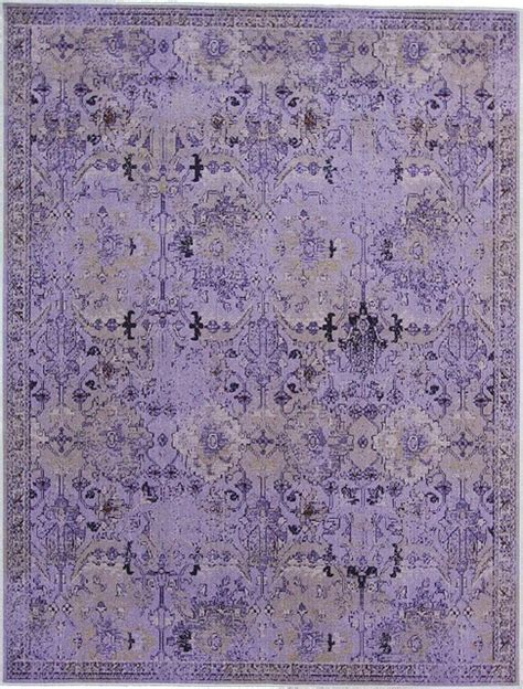 purple overdyed rug purple tabriz dyed rug eclectic rugs by esalerugs