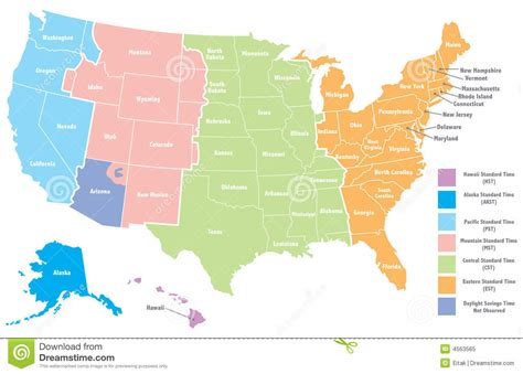 united states map time zones united states map with time zones