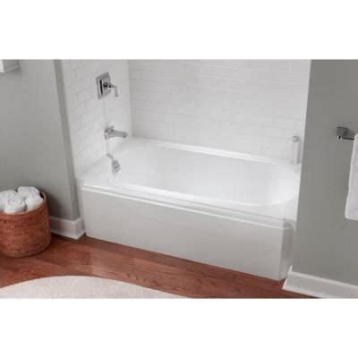 kohler memoirs bathtub memoirs 5 ft left drain alcove cast iron soaking tub in white