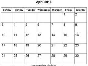 April 2012 Calendar Calendar For April