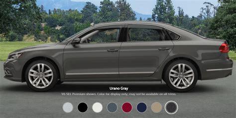 vw passat color options  trim levels