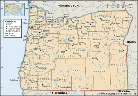 oregon map of counties state and county maps of oregon