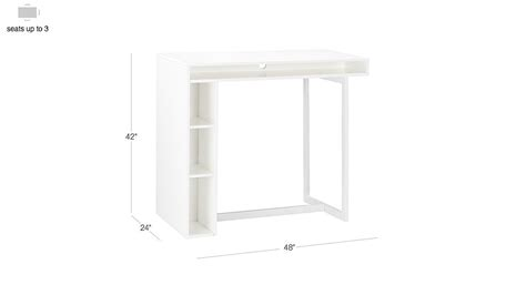 white 42 high dining table white 42 quot high dining table reviews cb2