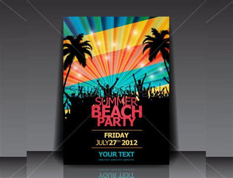 summer beach party flyer template louis twelve