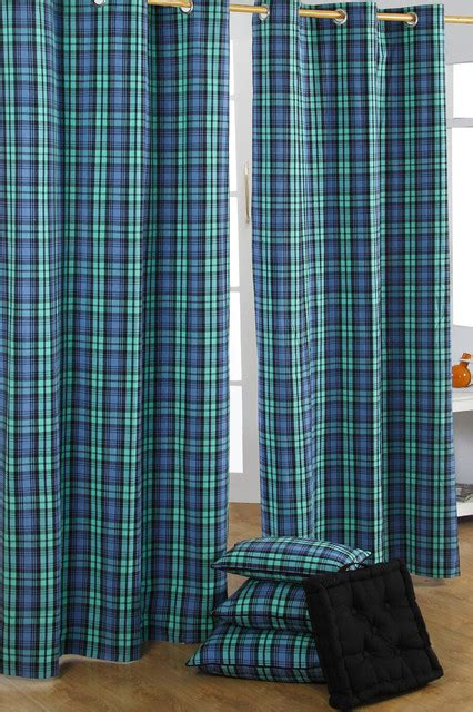 black watch tartan curtains black watch tartan check curtain pair modern curtains