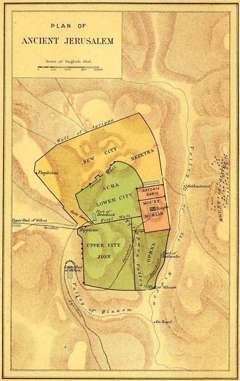 map of ancient jerusalem in jesus time bible maps bible maps