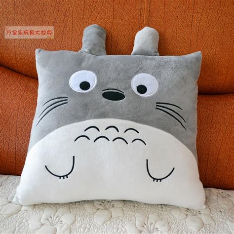 Totoro Pillow by Totoro Pillow Back Cushion Plush Cushion Doll Birthday Gift Instuffed Plush Animals