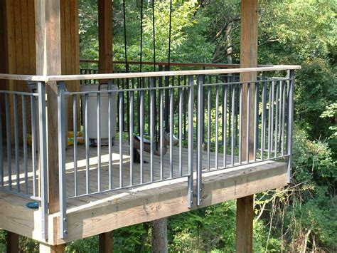 metal spindles for deck railing