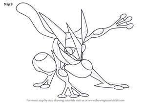 learn draw greninja pokemon pokemon step step drawing tutorials