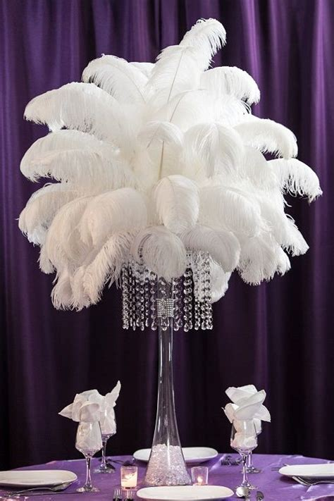 ostrich feather table centerpieces 25 best ideas about ostrich feather centerpieces on feather centerpieces gatsby