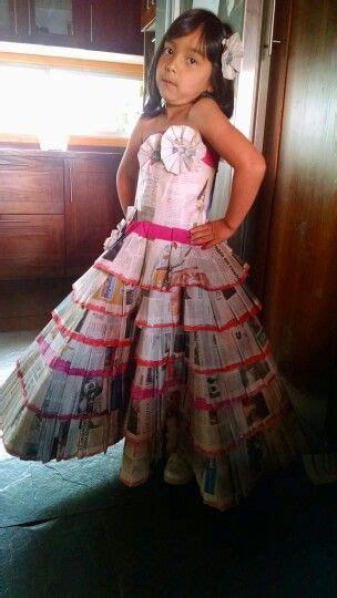 vestido con material reciclado 50 best images about vestidos material reciclado on