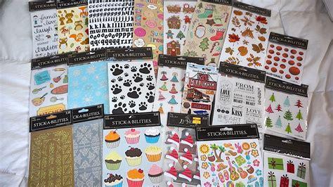 Hobby Lobby Planner Stickers hobby lobby 50 sticker haul great for erin