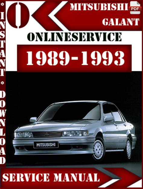 service manual 1989 mitsubishi galant repair manual free download service manual auto repair