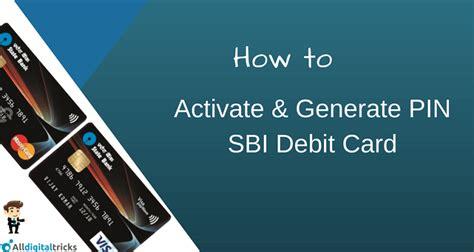how to activate sbi atm debit card online alldigitaltricks