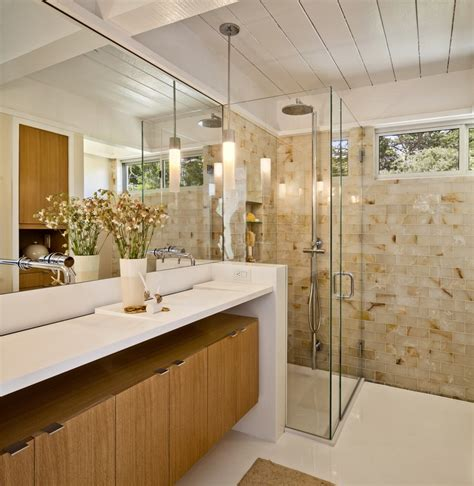 mid century modern and traditional mid century modern bathrooms design ideas