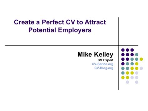 create a cv to attract potential employers
