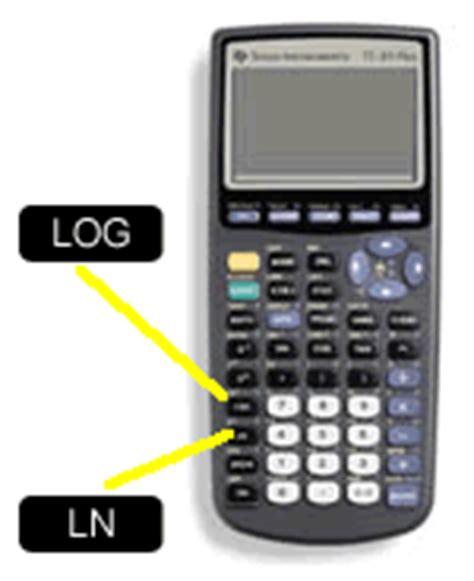 calculator antilog entering a logarithmic function on a ti 83