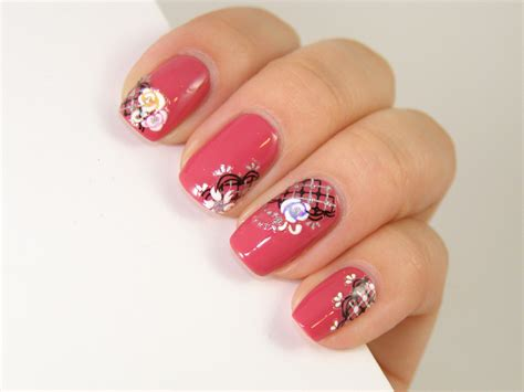 Nail Stiker by Tutorial Nail Using Deco Nail Stickers Winstonia