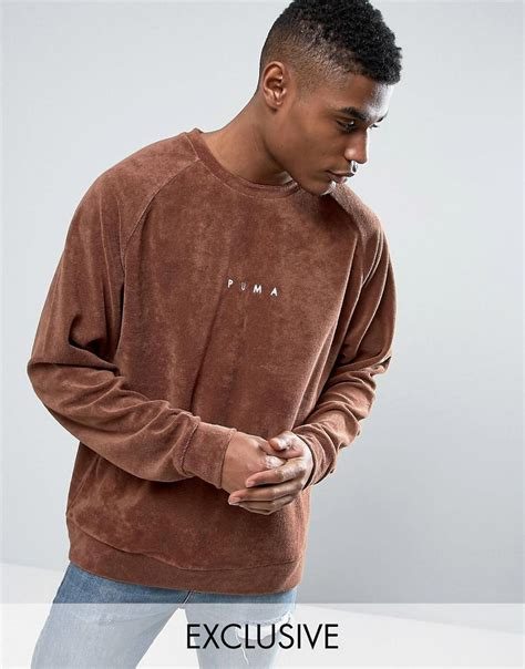 Brown Exclusive lyst towelling sweat in brown exclusive to asos
