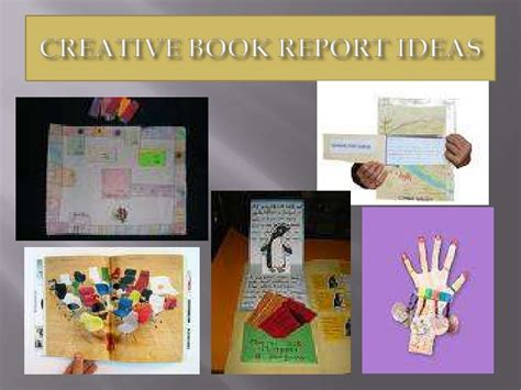 creative book report ideas creative book reports