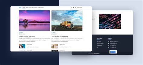 magazine layout bootstrap free bootstrap 4 templates stunning responsive material