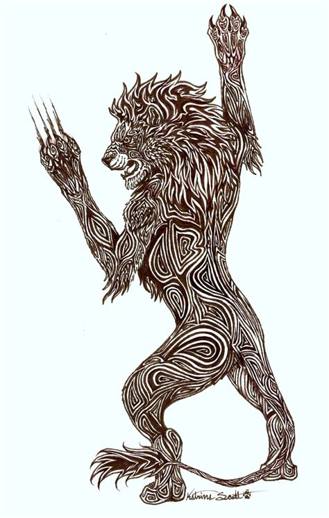 tribal tattoo lion tribal