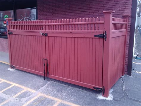 dumpster enclosure dumpster enclosure gate installation in andover peabody
