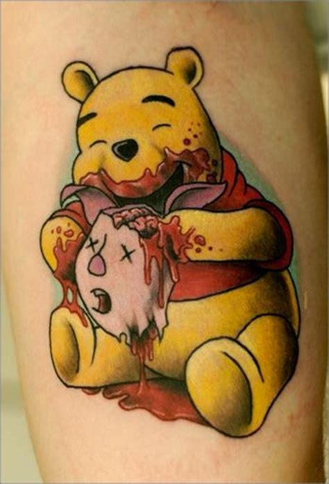 zombie pooh bear ink stuff pinterest