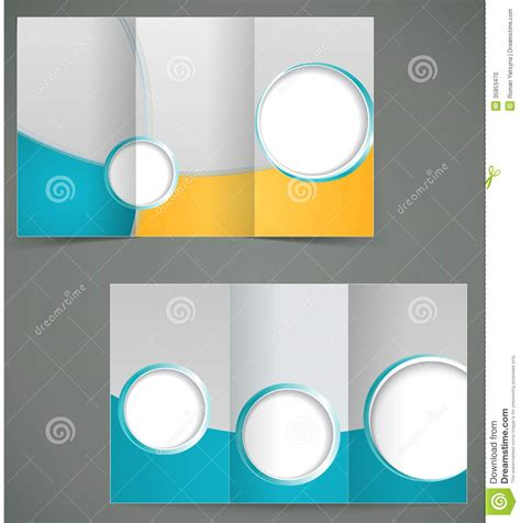 green brochure layout vector vector green brochure layout design with yellow el stock
