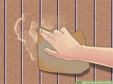 how to cover paneling how to cover wood paneling with pictures wikihow