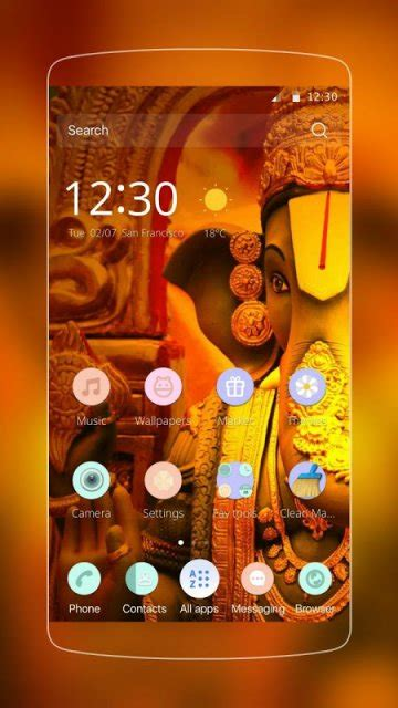 god themes for c launcher ganesha ganesh theme for cm launcher download apk for