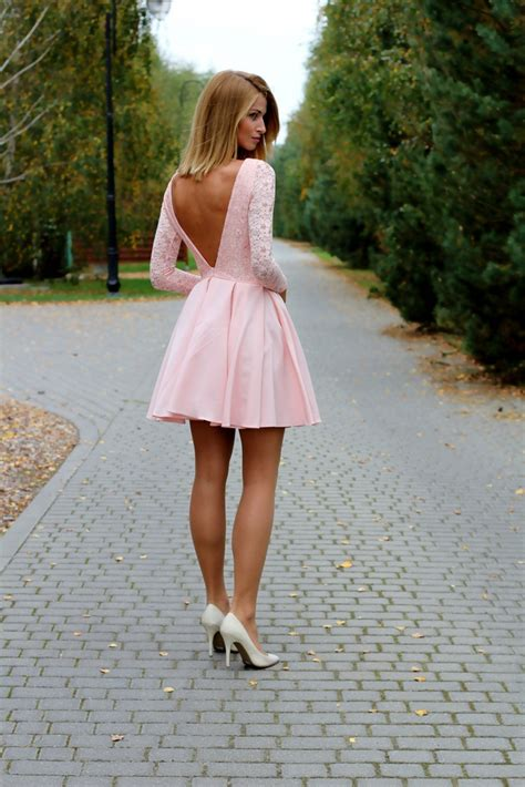 light pink fit and flare dress pink dresses styles 2018 fashiongum com