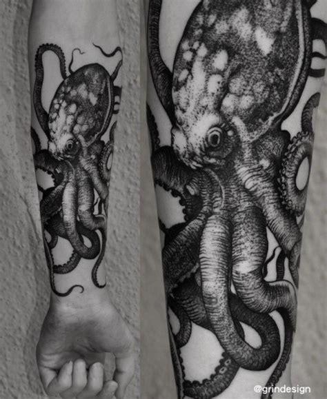 black and grey octopus tattoo 115 beautiful octopus tattoos