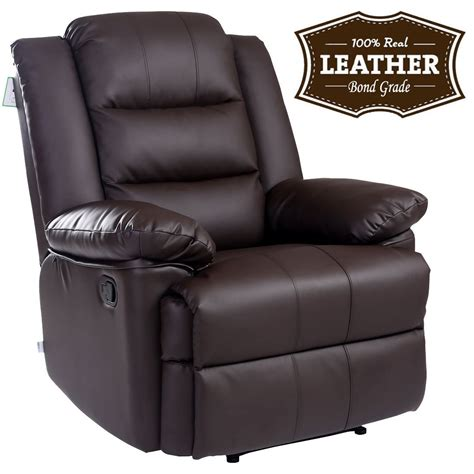 recliner armchair leather loxley leather recliner armchair sofa home lounge chair
