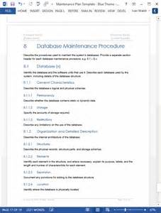 maintenance program template maintenance plan template