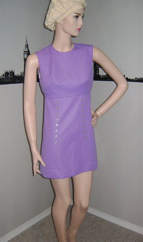 Popcorn Mini Dress 60 s mod purple mini dress vintage by popcornvintagebytann