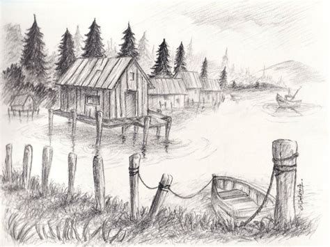 Landscape Sketchbook Pencil Drawings Landscape Pencil Drawings