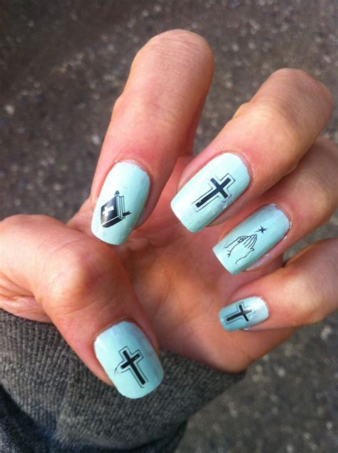 sweet baby jesus nails nail stamp easter nail