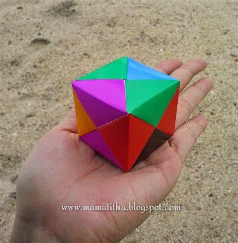 membuat origami kubus mama titha kubus origami