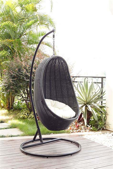 rattan swinging egg chair outdoor wicker egg chair bring an attractive and