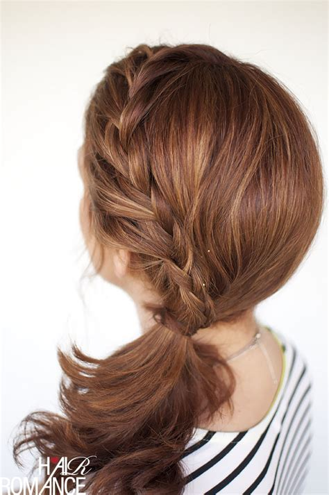 braided hairstyles side ponytail summer hairstyles for busy women
