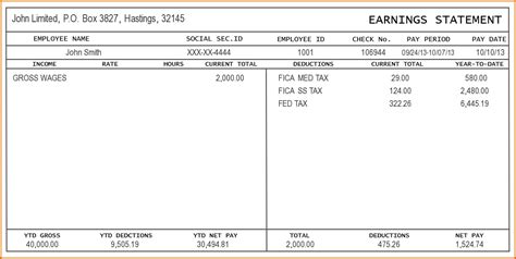 Stub Template Free 4 pay stub template excel authorizationletters org