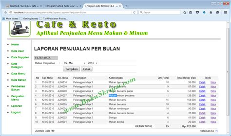 cara membuat database penjualan di xp buku panduan membuat aplikasi penjualan menu makan pada