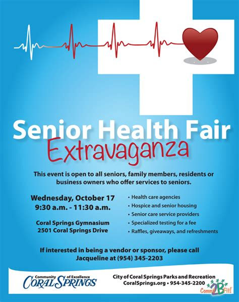 Free Health Fair Giveaways - senior health fair extravaganza in coral springs on