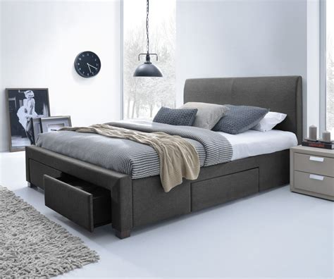 king size platform bed frame with drawers