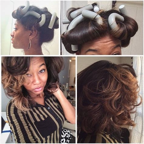 hot rods on relaxed hair 47 best flexi rods images on pinterest