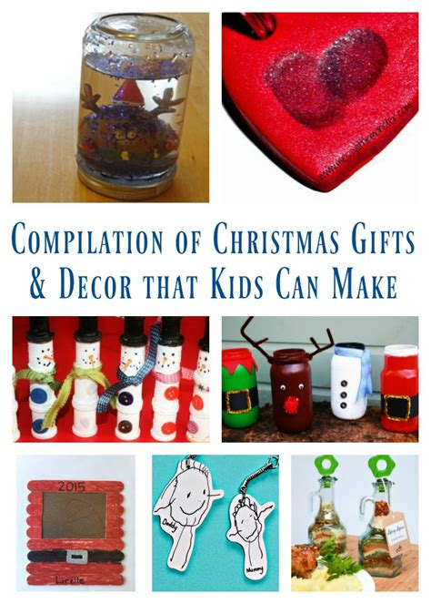 compilation of christmas gifts decor that kids can make