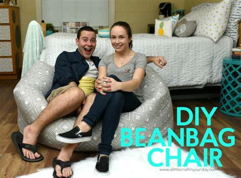 Diy Bean Bag Chair by Diy Bean Bag Chair A Craft In Your Daya