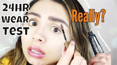 tattoo brow maybelline youtube tattoo brow gel tint testing the new maybelline