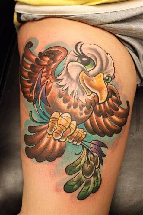 new school eagle tattoo cute baby bald eagle tattoo